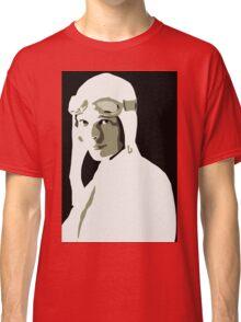 Amelia Earhart grayscale vector art Classic T-Shirt