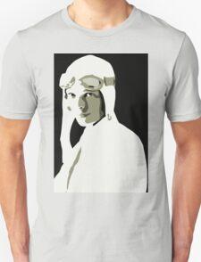 Amelia Earhart grayscale vector art Unisex T-Shirt