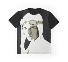 Amelia earhart grayscale vector art Graphic T-Shirt