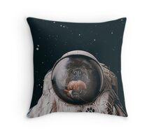 Space Dog Throw Pillow