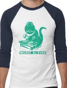 T-Rex is Worst DJ Ever Men's Baseball ¾ T-Shirt