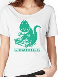 T-Rex is Worst DJ Ever Women's Relaxed Fit T-Shirt