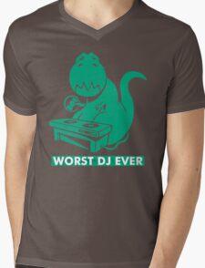 T-Rex is Worst DJ Ever Mens V-Neck T-Shirt