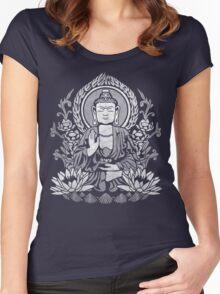 Siddhartha Gautama Buddha White Women's Fitted Scoop T-Shirt