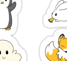 Fox, Bun and pengy stickers Sticker