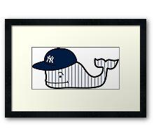 Yankee Cap Vineyard Vines Whale Framed Print