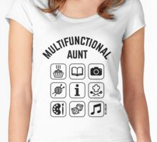 Multifunctional Aunt (9 Icons) Women's Fitted Scoop T-Shirt
