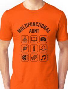 Multifunctional Aunt (9 Icons) Unisex T-Shirt