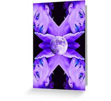 SELENE MOON GODDESS Greeting Card