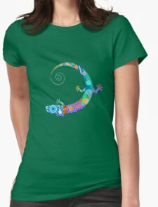 Happy lizard  Womens Fitted T-Shirt