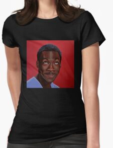 Eddie Murphy Painting Womens Fitted T-Shirt
