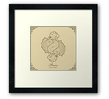 Pisces gold Framed Print