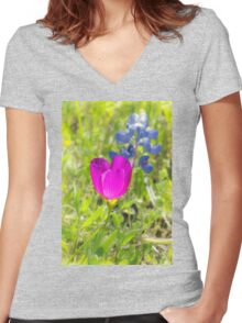 Cup of Blue Sunshine Women's Fitted V-Neck T-Shirt