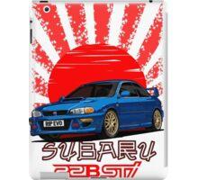 Subaru Impreza 22B WRX STI - R.I.P. EVO (Blue) iPad Case/Skin