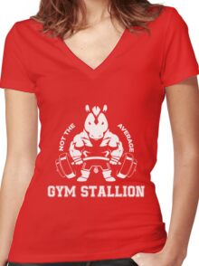 Not the average GYM STALLION Women's Fitted V-Neck T-Shirt
