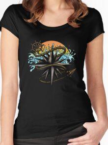 Nautical Splash Women's Fitted Scoop T-Shirt