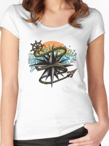 Nautical Splash Women's Fitted Scoop T-Shirt