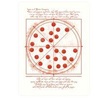 Leonardo da Vinci's Pizza  Art Print