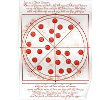 Leonardo da Vinci's Pizza  Poster
