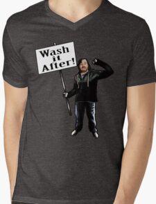 Wash It After Mens V-Neck T-Shirt
