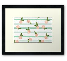 Striped seamless pattern. Framed Print