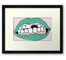 Teeth Framed Print