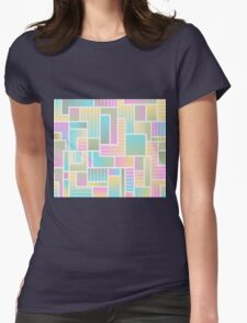 Summer Squares Womens Fitted T-Shirt