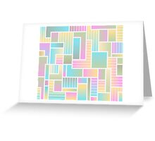 Summer Squares Greeting Card
