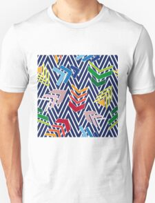 Multicolored chevron pattern with colorful arrows. Unisex T-Shirt