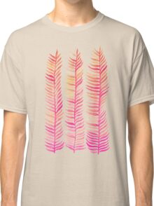 Pink Ombré Seaweed Classic T-Shirt