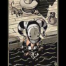 The Fool - Sinking Wasteland Tarot by JamesGrimlee