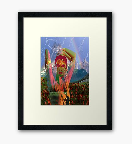 Fusion with the landscape Framed Print