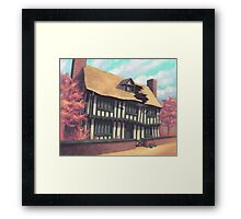 Tranquil house Framed Print