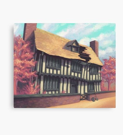 Tranquil house Canvas Print