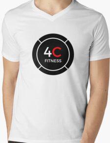 4C FITNESS LOGO Mens V-Neck T-Shirt