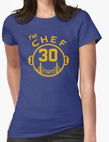 """Steph """"The Chef"""" Curry with the Pot Womens Fitted T-Shirt"""