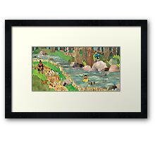 Woodland River Explorers Framed Print
