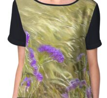 Cornfield. Golden husks blowing in the wind Chiffon Top