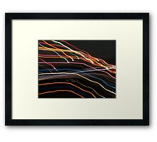 Playing With Lights Framed Print