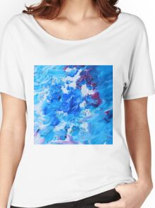 Abstract acrylic painting - a snowstorm. Women's Relaxed Fit T-Shirt