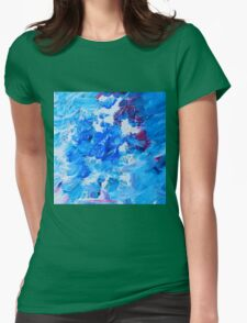 Abstract acrylic painting - a snowstorm. Womens Fitted T-Shirt