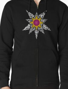 Pokemon Tribal - Starmie Pokemon Zipped Hoodie