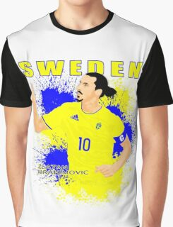ZLATAN IBRAHIMOVIC SWEDEN, EURO 2016 Graphic T-Shirt