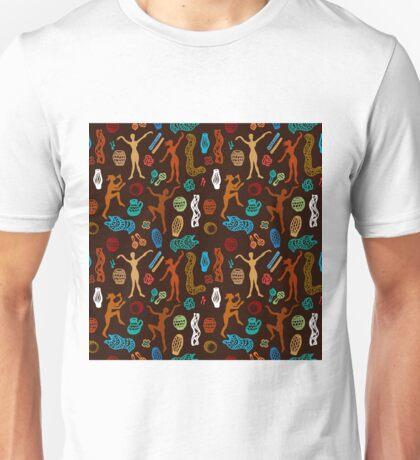 Shamanic dance. Aboriginals art motifs. Unisex T-Shirt