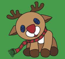 Tilted Reindeer Kids Tee