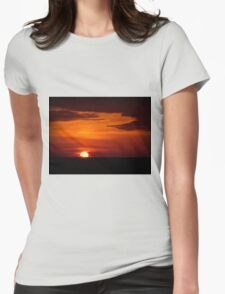Red sky at night, sailor's delight... Womens Fitted T-Shirt