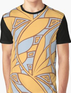 Modern art nouveau tessellations gamboge and azure Graphic T-Shirt