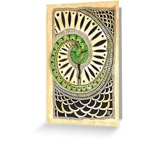 Little green snake Greeting Card