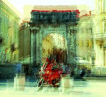 The Essence of Croatia - Red Motorbike in Pula by Igor Shrayer