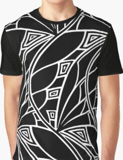 Modern art nouveau tessellations black and white Graphic T-Shirt